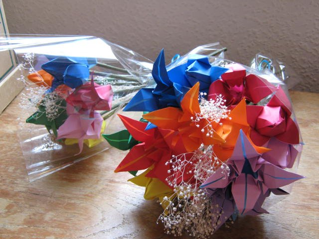 Bespoke Paper Flowers for a Rainbow Wedding