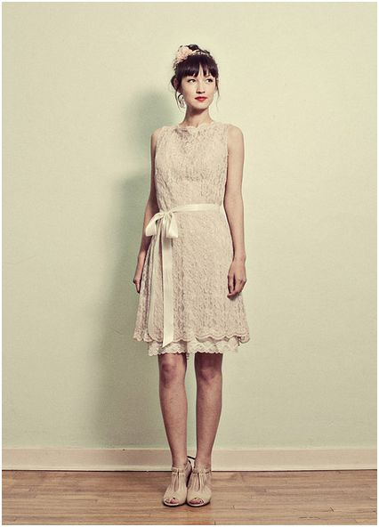 Short Vintage Wedding Dresses - Dotty Vintage Weddings