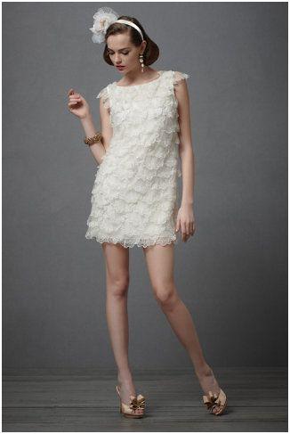 20's Style Flapper Wedding Dress