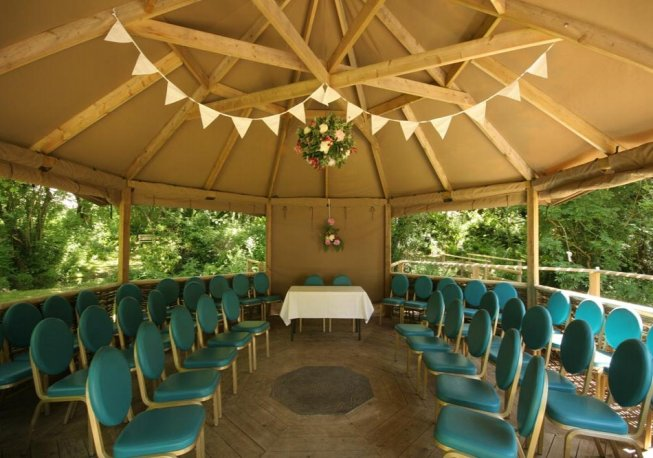 Ceremony Location at Cornish Tipi Weddings