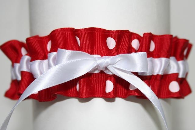 Red and White Polka Dot Garter