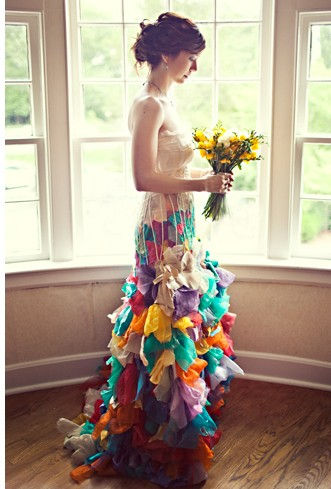 Rainbow Bespoke Wedding Dress