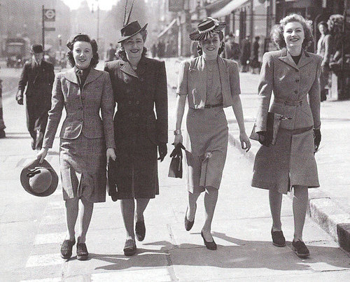 Fashion in the 1940's Wartime