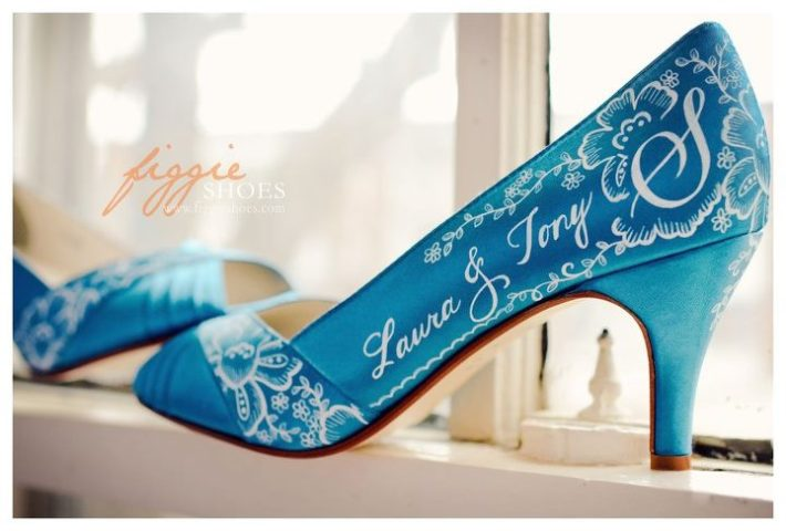 Custom Turquoise Wedding Shoes