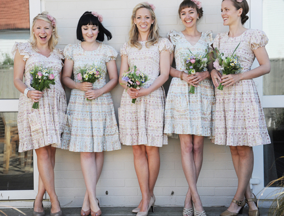 Alternative Bridesmaid Dresses - {Dotty Vintage Weddings} Vintage ...