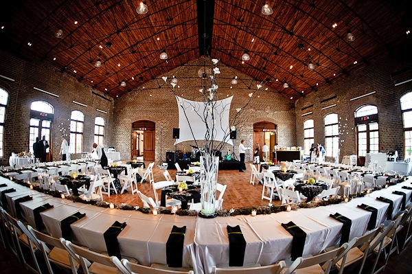 Black and White Wedding in Venue