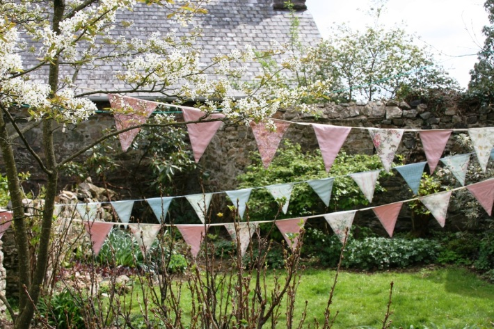 Hire Vintage Bunting for your Wedding in Devon