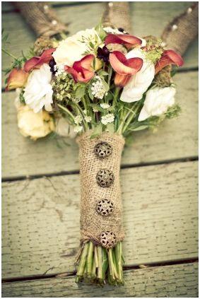 Rustic Vintage Wedding Bouquet