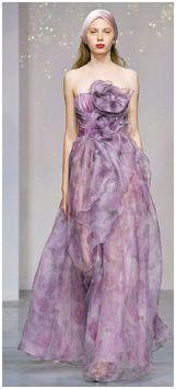 Lilac Romantic Wedding Dress