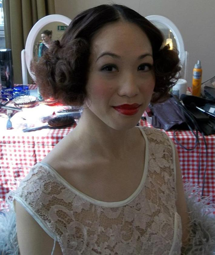 Vintage Hair and Make Up by Lipstick and Curls