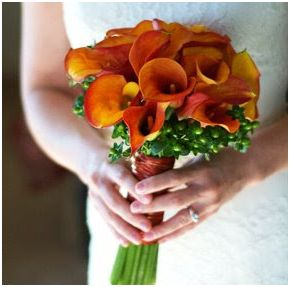 Calla Lilys - Orange Wedding Flowers