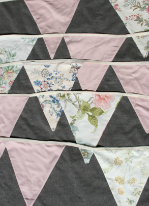 Vintage Reclaimed Bunting available for hire in Devon and Cornwall