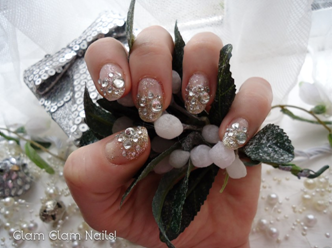 Winter Wedding by Glam Glam Nails