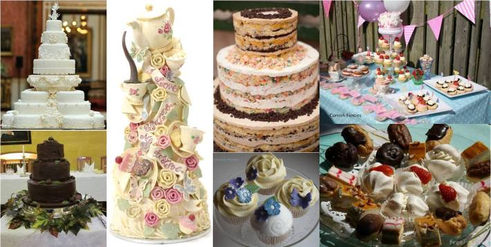 Different Styles of Wedding Cake