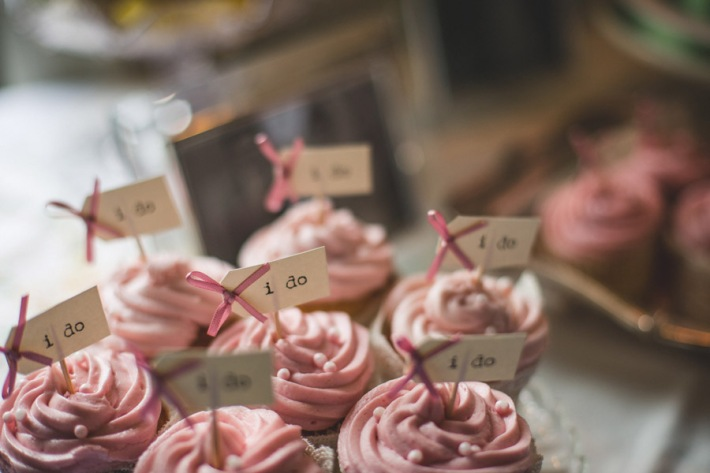 Homemade Cupcakes - Dusky Pink and Vintage