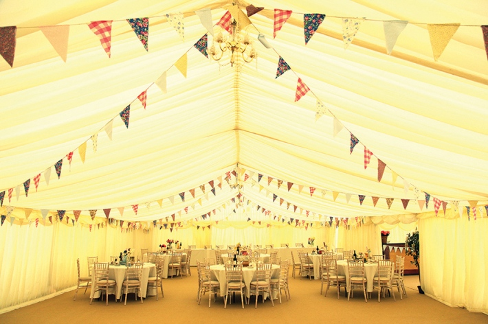 Marquee with Vintage Bunting