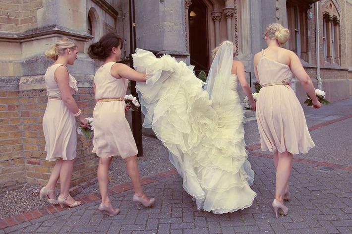 Dusky Pink Bridesmaid Dresses
