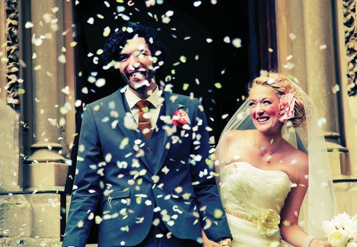Confetti following a beautiful ceremony