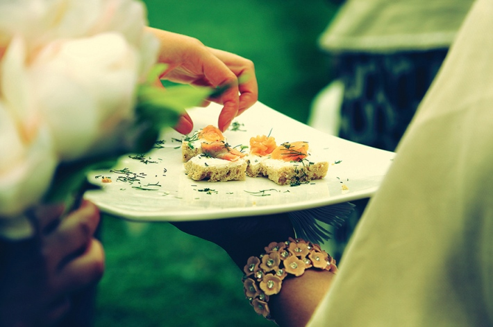Scrummy Canapes at a Marquee Reception