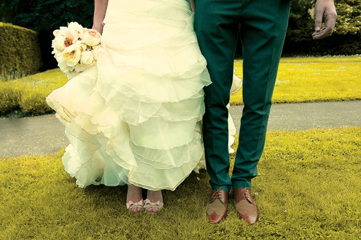 Fancy Wedding Shoes for Bride& Groom