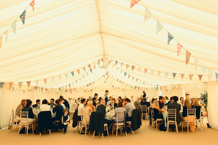 Vintage Marquee Wedding with Bunting