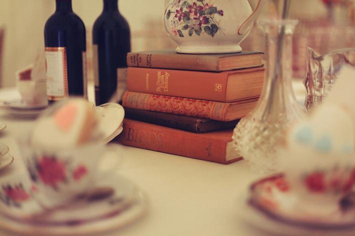 Vintage Books Wedding Decor