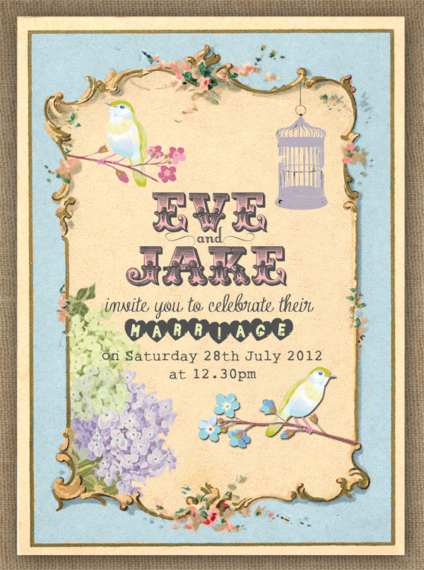 Wedding Invitation - Pastel Pretty by In the Treehouse
