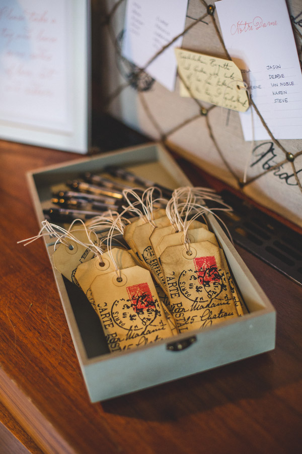 Vintage Tags for Wedding Messages