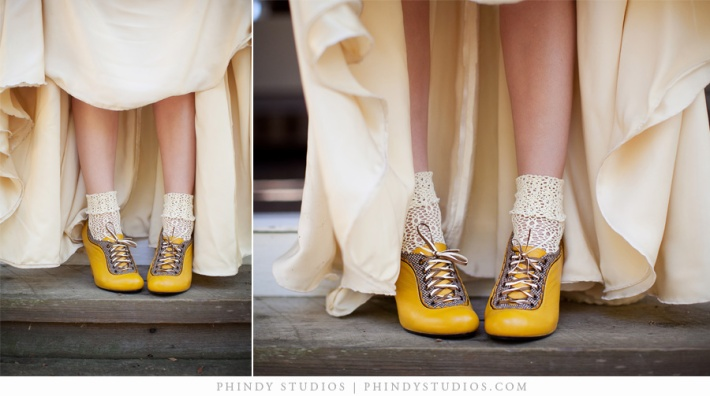 Vintage Wedding Shoes - Yellow