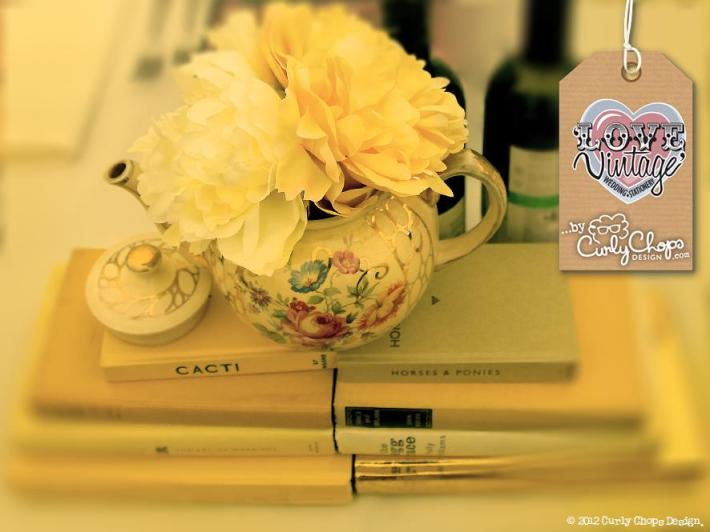 Vintage Books, Crokery & Pretty Flowers