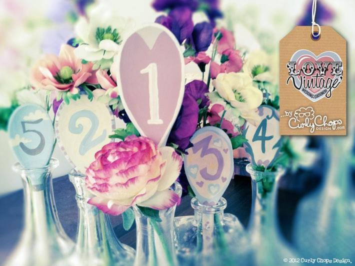 Vintage Table Numbers by Love Vintage