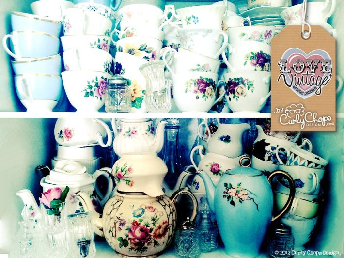 Vintage Crockery available to Hire