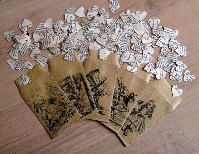 Alice in Wonderland Novel Confetti