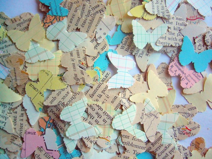 Butterfly Shaped Book Paper Confetti