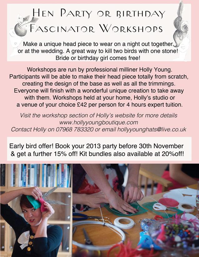 Fascinator Workshops in Devon & Cornwall