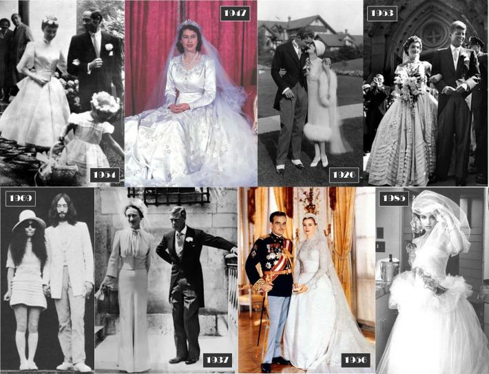 Iconic Celebrity Wedding Dresses - Through the Eras