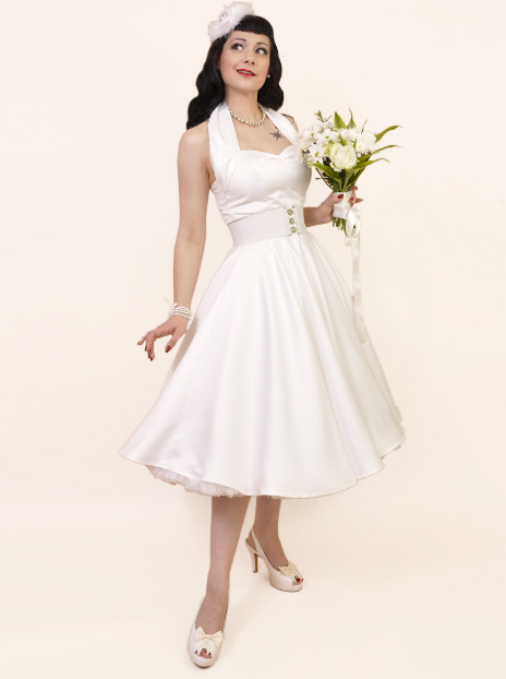 Fifties Halterneck Dress by Viven of Holloway