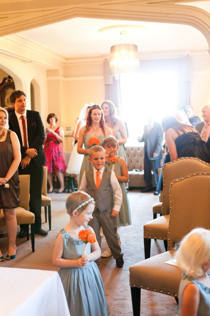Walking down the Aisle at the Maison Talbooth