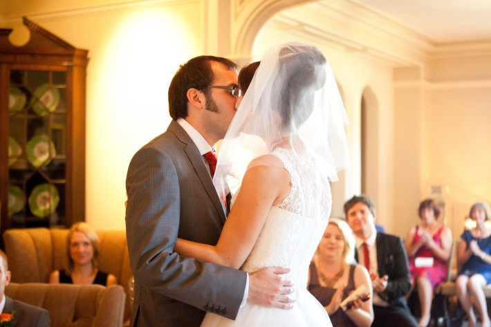 You may kiss the bride - a wonderful moment to remember