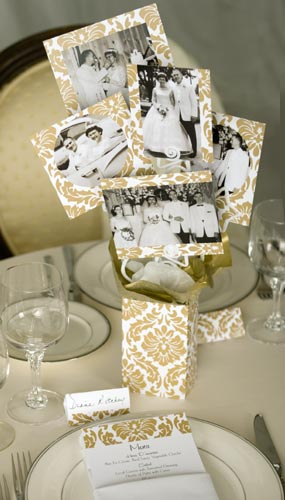 Wedding Centrepieces with Photographs