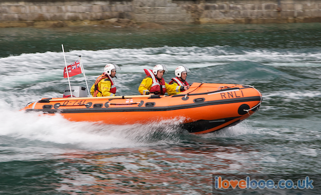 The new Looe Lifeboat - donations at my Dad's service were contributed to directly