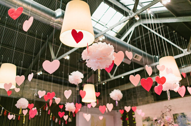 Hanging Wedding Hearts