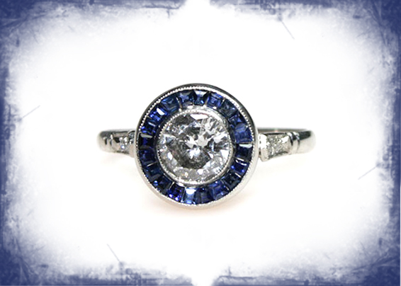 Sapphire Target Ring