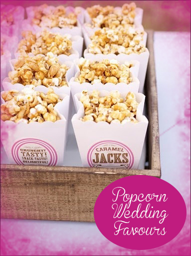 Popcorn Wedding Favours