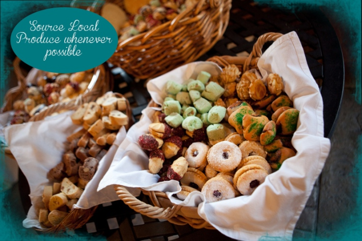 Guest post a vintage wedding that won 39 t literally cost - Food decoration for wedding ...