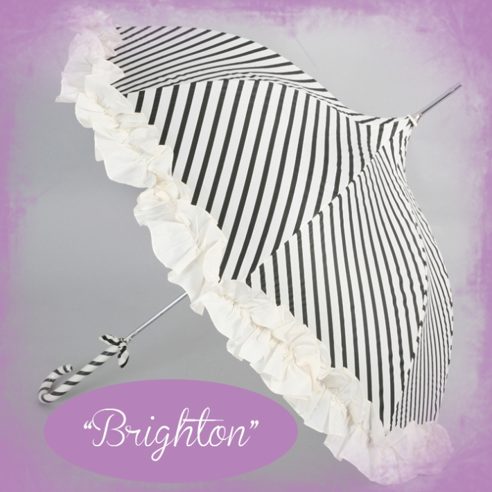Stripy Wedding Umbrella