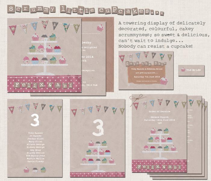 Cupcake Wedding Stationery