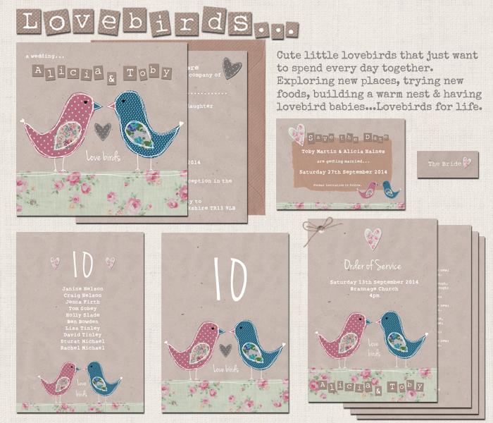 Love Bird Wedding Stationery